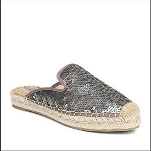 Sam Edelman Sequin Kerry Espadrille Slides  8.5